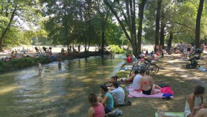 English Garden in Munich, Eisbach