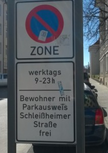 Bewohnerparken/resident only parking