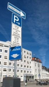 parking sign/Parkschild